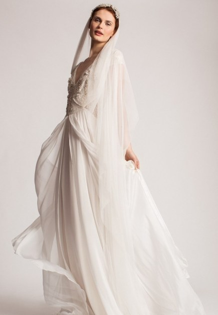 Temperley London 'Rosalind' Embellished V-Neck Chiffon Gown (In Stores Only), $3,765, via Nordstrom