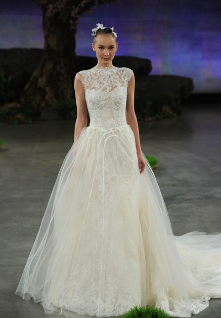 INES DI SANTO 'Margeaux' Lace Tulle & Organza Ballgown Overskirt with Detachable Train (In Stores Only), $2,490, via Nordstrom