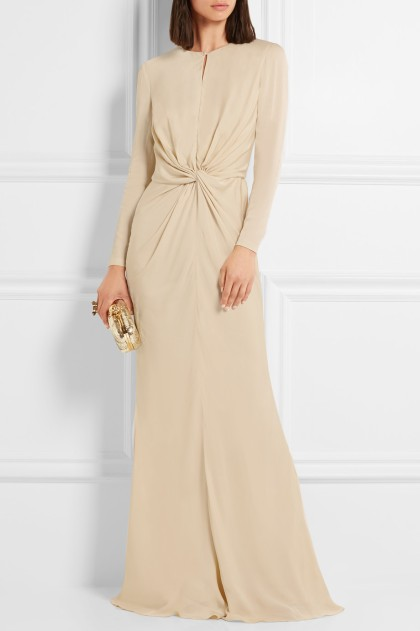 ALEXANDER MCQUEEN Knotted cady gown, $2,995, via Net-A-Porter