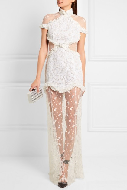 Alessandra Rich In The Mood For Love Chantilly lace gown, $2,900, via Net-A-Porter