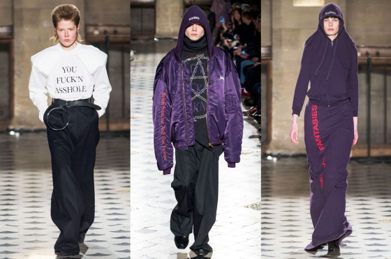 Vetements Fall/Winter 2016 Runway, via New York Magazine