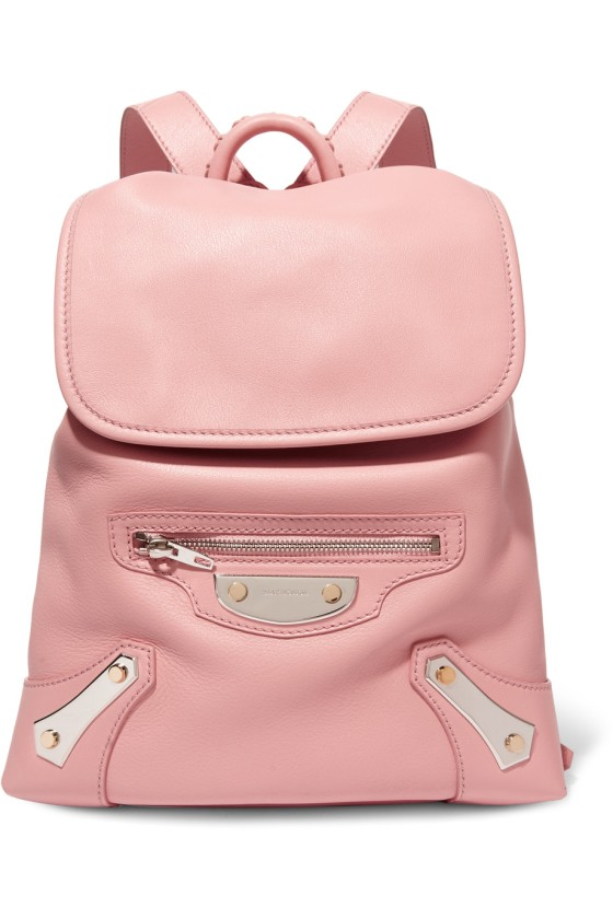 Balenciaga Traveller textured-leather backpack, $1,885, via Net-a-Porter