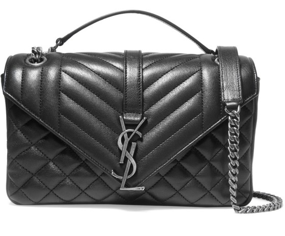 Saint Laurent Monogramme quilted leather shoulder bag, $1,990, via Net-a-Porter