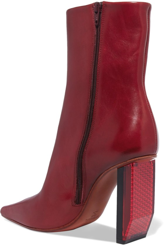 VETEMENTS Textured-leather ankle boots