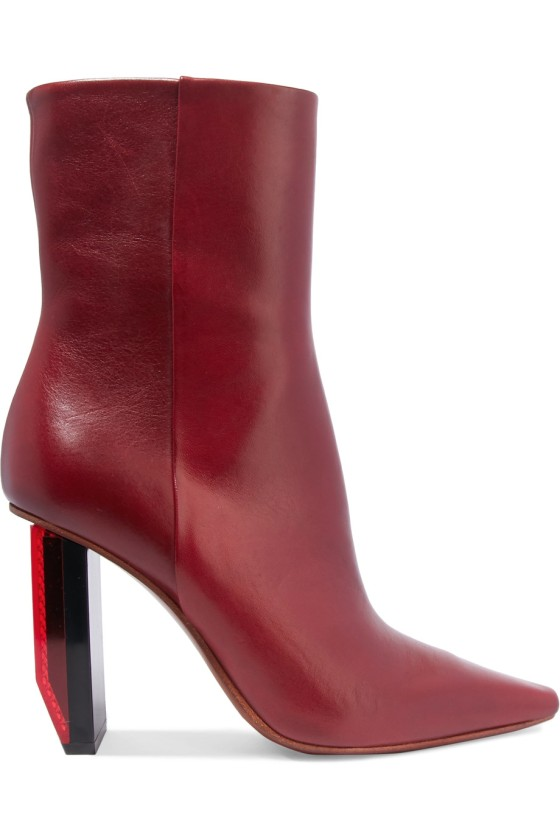 Vetements Textured-leather ankle boots, $1,710, via Net-a-Porter