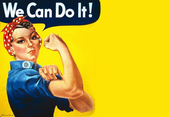 Rosie the Riveter, via Pinterest