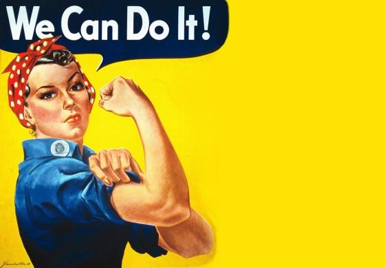 Rosie the Riveter, via Pinterest